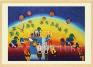火の鳥 フェニックス ジークレー版画画像