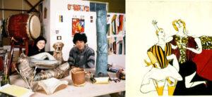 池田満寿夫夫妻と版画作品の画像