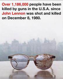 ョンレノン 殺害時の血の付いた眼鏡