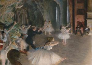 舞台上でのバレエのリハーサル